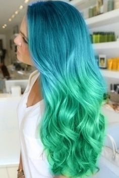 Ombré. Love the colors! would be too afraid to do it to my hair
