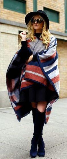 #street #style / geometric cape