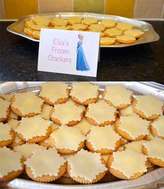 Disney Princess Party Food Frozen Themed Party Food Elsa's Frozen Crackers