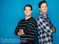 Henry Cavill and Armie Hammer, 'The Man from U.N.C.L.E.' #EWComicCon Image Credit: Michael Muller for EW