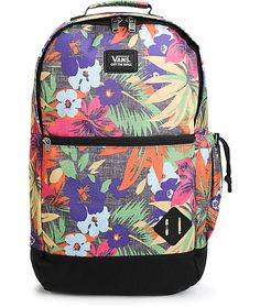 Carry your things in style with an all over multicolor Hampton floral print plus moisture wicking ergonomic padded shoulder straps for all day comfort.
