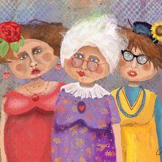 Bestfriendsforever Digital Art by Arline Wagner - Bestfriendsforever Fine Art Prints and Posters for Sale Canvas Art, Canvas Prints, Art Prints, Illustrations, Illustration Art, Best Friends Forever, Whimsical Art, Cute Art, Caricature