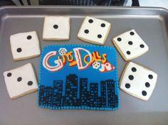 Guys & Dolls theme cookies