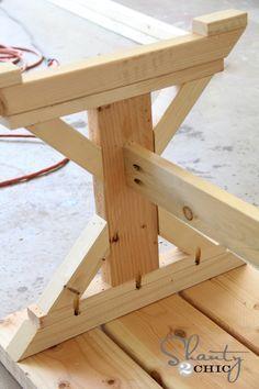 New farmhouse diy bench Ideas Farmhouse Table Plans, Farmhouse Furniture, Rustic Furniture, Farmhouse Style, Diy Furniture Projects, Diy Furniture Plans, Diy Wood Projects, Furniture Websites, Furniture Dolly