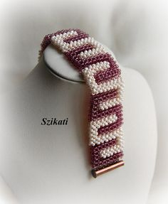 SALE 10% OFF Beige/Eggplant Purple Statement Cuff от Szikati