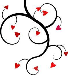 little hearts with swirls