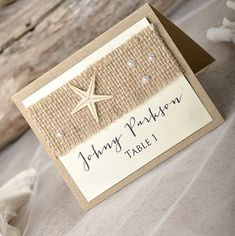 Customize Any Color, 10 Starfish Wedding Place Cards, Escort Cards ...