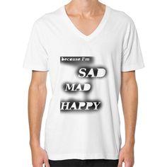 "V-Neck Emotional ""Because I'm Happy"""