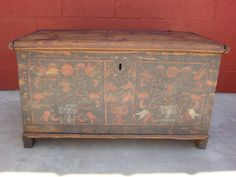 Antique Furniture Antique Painted Pine Chest Trunk