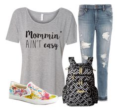 """Mommy blues"" by suki-eleuterio on Polyvore featuring Joe's Jeans, BucketFeet and Ju Ju Be"