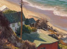 """""""Orange County Remnants"""" by Joseph Paquet.  Not actually a Californian but this artist is a contemporary plein air painting and is a member of the Laguna Beach Plein Aire Artists."""