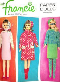 1966 meet Francie Paper Dolls.