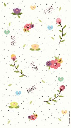 Pressed Flowers iPhone Wallpaper @PanPins