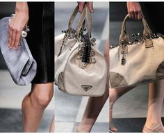 Prada Spring/Summer 2010 Handbags Collections Miuccia Prada's fantasy romp on the beach for spring featured more than just Bermuda shorts and scuba-inspired garments. Description from allhandbagfashion.com. I searched for this on bing.com/images