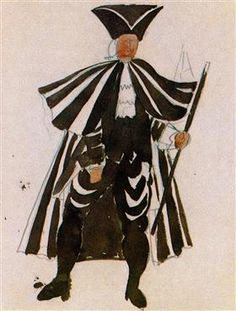 "Costume design for ballet ""Tricorne"" - Pablo Picasso"