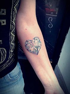 Diamond Tattoo on Forearm