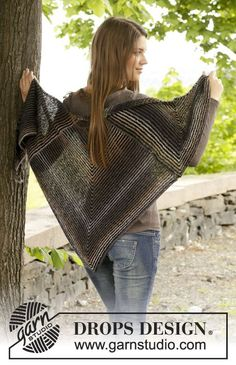 A nice shawl with fun and pretty stripes! Pattern is now online for #free! #knitting #aw2014