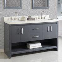 Studio One - Fairmont Designs - Fairmont Designs Fairmont Designs, Chrome Finish, Polished Chrome, Double Vanity, Master Bathroom, Pewter, Studio, Tin, Master Bath