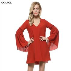 Women New Arrival Lantern Sleeve Dress V-Neck High Quality Chiffon Mini Dress Summer Spring Thin Ladies'Unique Design Dress