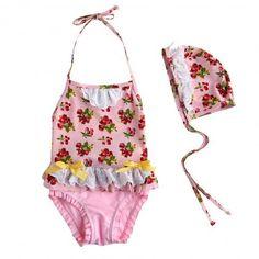 Vidya Pink Retro Swimsuit