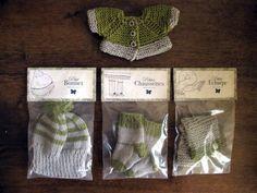 Gilet top down  chaussettes  pour corolle les chéries. Clothes for doll