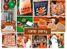 Birthday Party Ideas Entertainers and Venues DC: Camp Out Camping Theme Kids Party    Frosted Event...