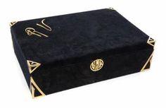 RUDOLPH VALENTINO velvet box, 1920s