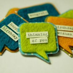 Felt tags... totally doing this.