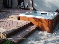 Pergola Ideas For Deck Code: 4929951603 Hot Tub Pergola, Hot Tub Backyard, Backyard Pool Landscaping, Deck With Pergola, Diy Pergola, Landscaping Ideas, Jacuzzi Outdoor Hot Tubs, Nice Backyard, Pergola Kits
