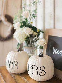Осеннее вдохновение: тыквы в декоре свадьбе - The-wedding.ru