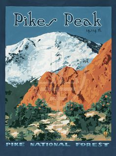 Pikes Peak: Colorado Series The Bungalow Craft by TheBungalowCraft