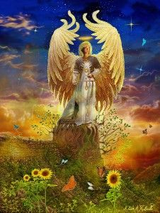 """""""Greetings beloved one, indeed I am Archangel Uriel and I greet you in this moment. I'm so pleased to connect with you now for dearest one you truly are once again at a powerful point of new beginning.   Archangel Uriel Image by Steve Roberts Read or listen to the entire channeled angel message here; http://www.ask-angels.com/free-angel-messages/entering-into-a-new-level-of-divine-lov/  #archangel #angelmessage #awareness #mindfulness #hope #loveandlight"""