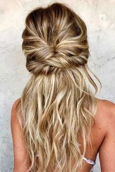 Gorgeous simple style for long hair