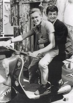 Billy Fury with Dickie Pride