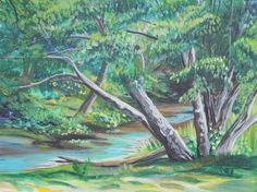 Ladner Slough by NorthWestPacificArt on Etsy