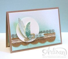 By Teneale Williams | Stampin' Up! Artisan Blog Hop | Four Feathers