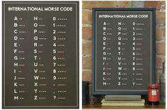 Morse Code print