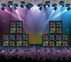 Dreamcasual - ROCK CONCERT 80s Party Decoration Wall Mural BACKDROP Photo
