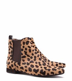 2c7d2ac0e Great animal print bootie from Tory Burch Leopard Slip On