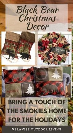 Perhaps you can't make it to the smokies this year , but you can bring a bit of the Smokies home with these adorable Black Bear Christmas decor items. Show off your Smoky Mountains side this Christmas with these black bear holiday decorations.