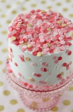 Yummy! DIY Confetti Cake Recipe at @joannstores | Valentine's Day Dessert
