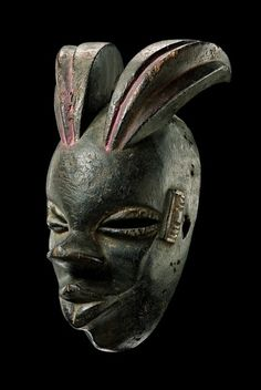 "Horned mask ""elu"" Nigeria, Ogoni"