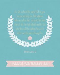 The gospel in a nutshell - John 3:16-17 (printable).
