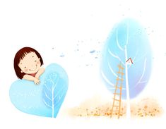 Children's Day Art Illustrations : Childhood Memories and Fun - Children's Day Art Wallpaper : Cute Little Girl Cartoon Illustration 28 Little Girl Cartoon, Cute Little Girls, Cute Kids, Cartoon Girls, Positive Affirmations For Kids, Daily Affirmations, Decoupage, Happy Children's Day, Kids Wallpaper
