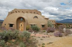 Dome house in Taos desert by jungle mama, via Flickr