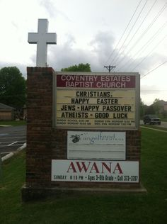 Easter church sign of the day!!