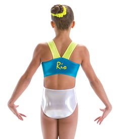 Gymnastics Open Back V Strap Rio Leotard