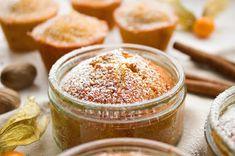 Kürbis-Gewürz-Küchlein im Glas No Bake Desserts, Muffins, Sugar, Baking, Sweet, Cake Ingredients, Cookie Recipes, Small Cake, Oven