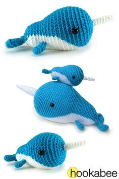 Little Walden the Narwhal amigurumi crochet pattern by @hookabee