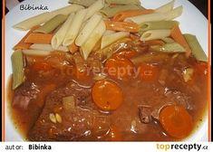 Hovězí nevšední chuti Pot Roast, Thai Red Curry, Crockpot, Chili, Soup, Ethnic Recipes, Cooking, Carne Asada, Roast Beef